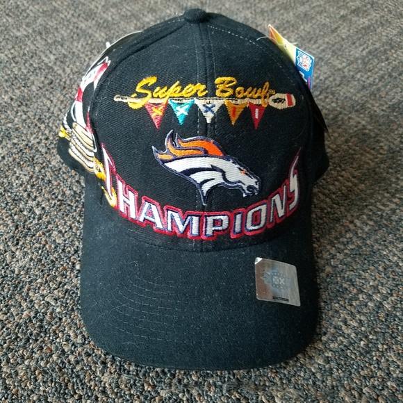 7af29969 Denver Broncos Super Bowl XXXII 32 Locker Room cap NWT